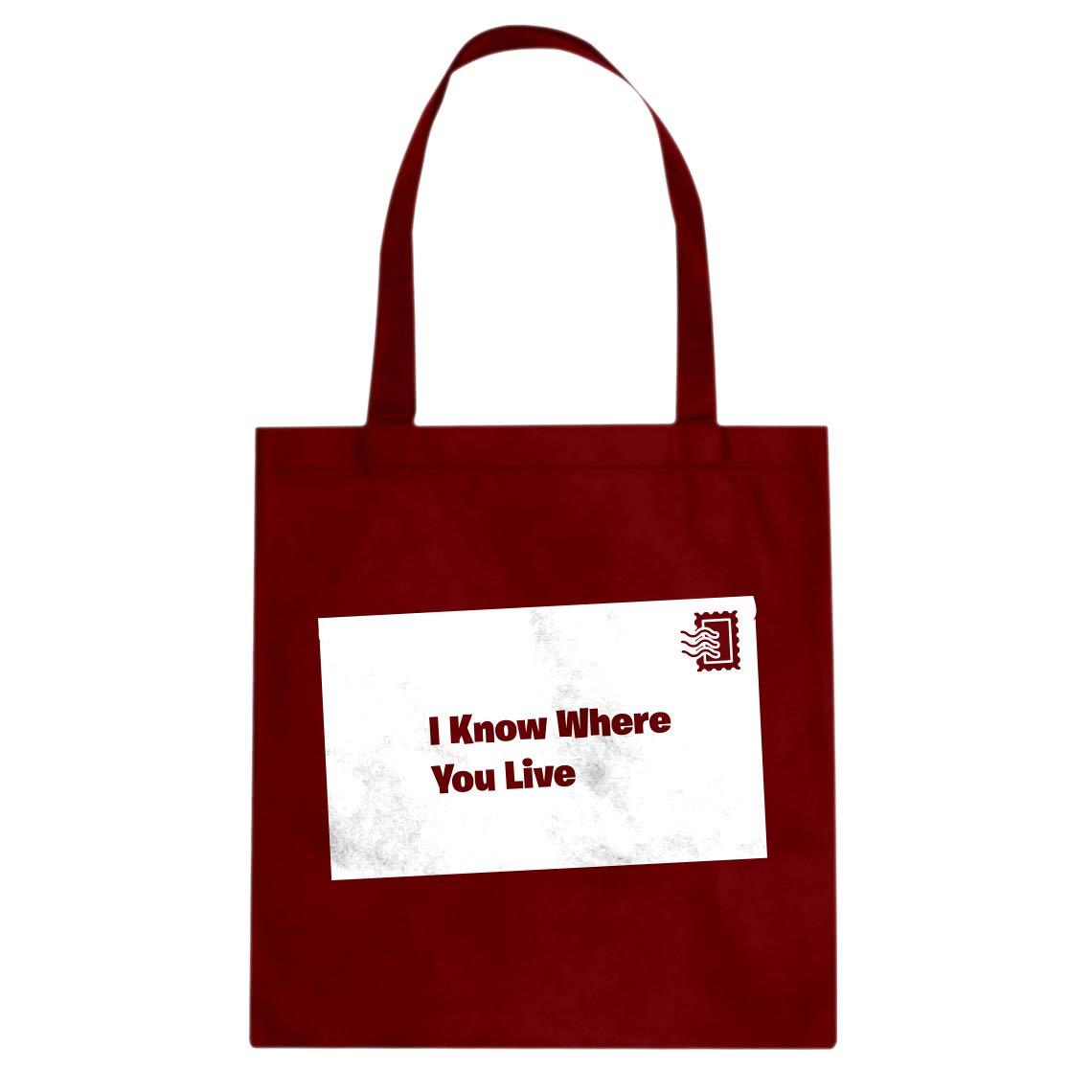 Indica Plateau I Know Where You Live Cotton Canvas Tote Bag