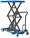Lift Table Cart - BCART-S-FR Series; Scissor Type: Double; Lowering Method: Hand; Platform Size (W x L): 25-1/2'' x 45-1/4''; Raised Height: 63-3/4''; Lowered Height: 17-3/4''; Capacity (LBS): 400