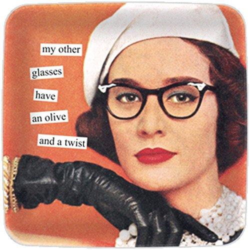 Anne Taintor Mini Tray - Glasses (Mini Glass Earrings Square)