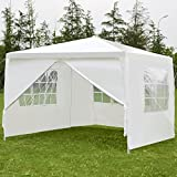 TANGKULA 10'x10' Canopy Party Wedding Tent Heavy Duty Gazebo BBQ Shelter Pavilion Cater Event Outdoor with Side Walls