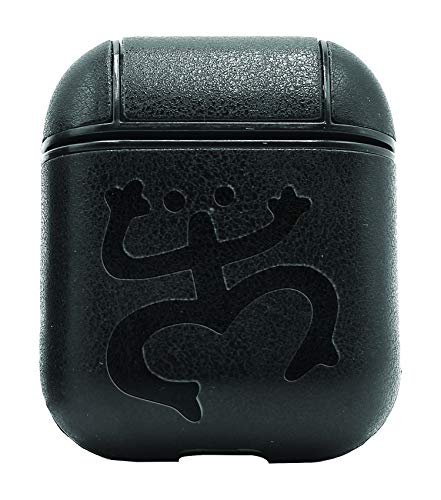 Animal Coqui Frog Puerto RICO WILDLFIE (Vintage Black) Air Pods Protective Leather Case Cover - a New Class of Luxury to Your AirPods - Premium PU Leather and Handmade exquisitely by Master Craftsmen