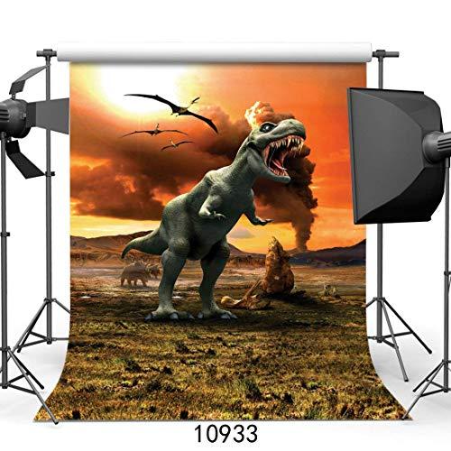 SZZWY 5x7ft Tyrannosaurus Rex Dinosaur 3D Photography Backdrops for Kids Boy Birthday Party Photo Background 10933 ()