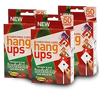 christmas card hang ups adhesive velcro hanging display kit quick