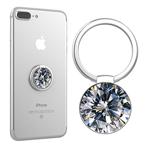 Finger Ring Stand,Cell Phone Holder Universal Smartphone Kickstand for iPhone 6/6s Plus, iPhone 7/7 Plus, Samsung Galaxy S8/S8 - Diamond