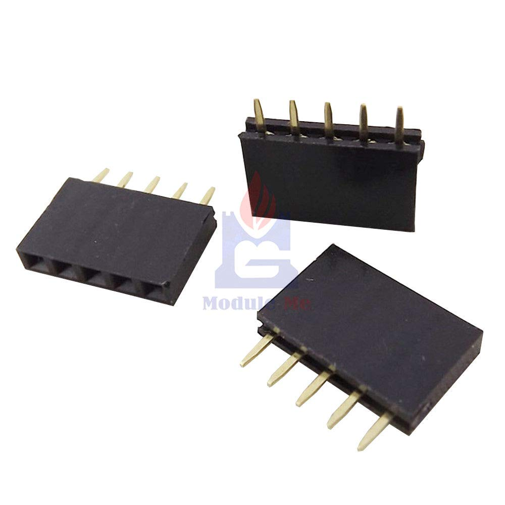 100PCS 1x5 Single Row 5 Pins Pitch 2.54mm PCB Socket Female Header New