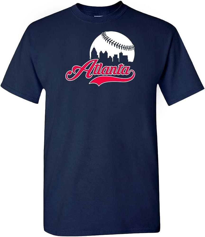 Xtreme Apparrel Atlanta Baseball Skyline Fans T-Shirt