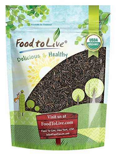 Organic Wild Rice — Raw, Long Black Whole Grain, Non-GMO, Kosher, Bulk (by Food to Live) — 1 Pound