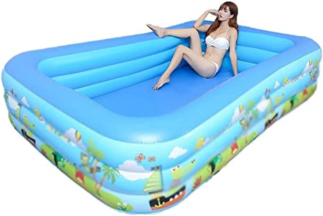 Swimming Pool For Kids And Adults Family Interaction Summer Pool Party Blow Up Pool Garden Water Play 260x170x60 Cm Home Kitchen