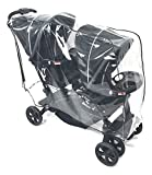 Sashas Premium Series Rain and Wind Cover for Baby Trend Sit N' Stand Double Stroller