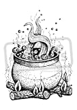 A7 'Bubbling Cauldron' Unmounted Rubber Stamp (SP00003509)