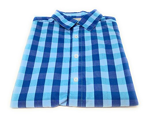 (Faded Glory Boy's Button Down Shirts, Assorted Colors and Sizes (X-Large (14-16), Blue Plaid - Short)