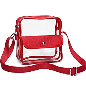 Clear Purse, F-color Concert Stadium Approved Clear Bag, BTS, NFL, NCAA Approved Crossbody Bag for Women Men 16