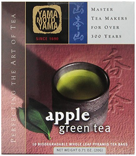 Yamamotoyama Apple Green Tea Pyramid Bag,  10 Count