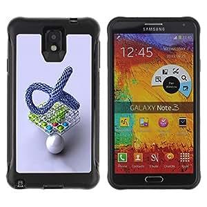 Suave TPU GEL Carcasa Funda Silicona Blando Estuche Caso de protección (para) Samsung Note 3 / CECELL Phone case / / Abstract Balls /