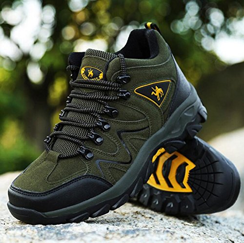 Trainers Shoes Gray Shoes Outdoor Winter Fall Green Top Exercise Hiking Lace Casual Trekking Sneakers High Men's for up C Brown Pavqpn