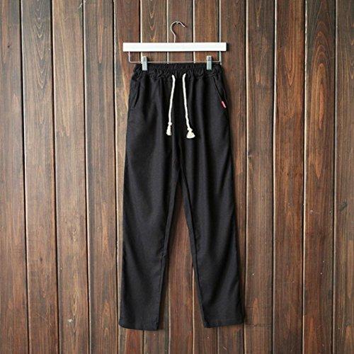 Di Leggings Jeans Ginnastica Uomo Challenge Slim Jogging pantaloni Pantalone Cargo Lino Da Estivi Pantaloni Sportivi Nero Lino Fit 86xOqZF6