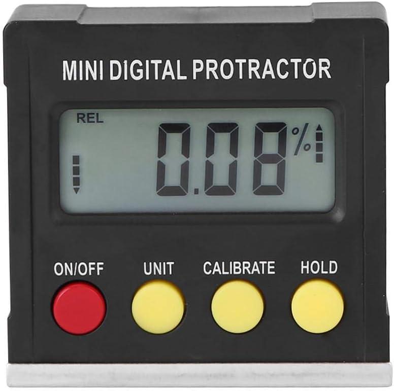 Medidor de inclin/ómetro digital sierra de ingle medidor de /ángulo de /ángulo Medidor de nivel de transportador magn/ético Medidor de bisel de inclin/ómetro con base magn/ética c/álculo para carpinter/ía