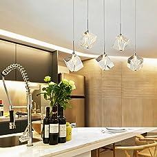DINGGU™ Modern Lighting Island Crystal Chandelier Pendant Lamp Fixtures 5 Lights Halogen Bulbs Included