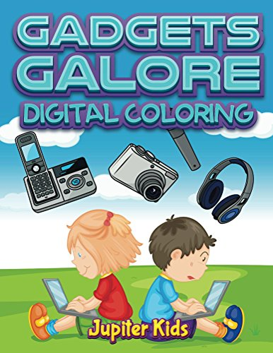 Gadgets Galore Digital Coloring Book ebook