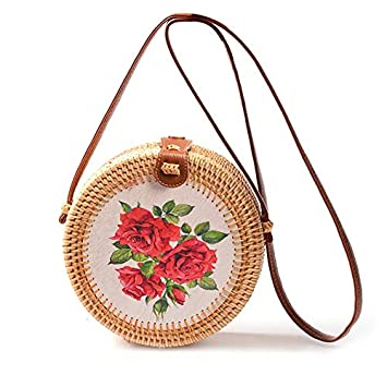 Woven Rattan Bag Straw Shoulder Bag Beach HandBags Women Summer Hollow Handmade