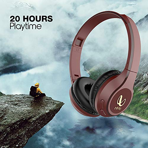 Infinity Glide 500 by Harman, 20 Hrs Playtime with Quick Charge, Wireless On Ear Headphone with Mic, Deep Bass, Dual Equalizer, Bluetooth 5.0 with Voice Assistant Support for Mobile Phones (Red)