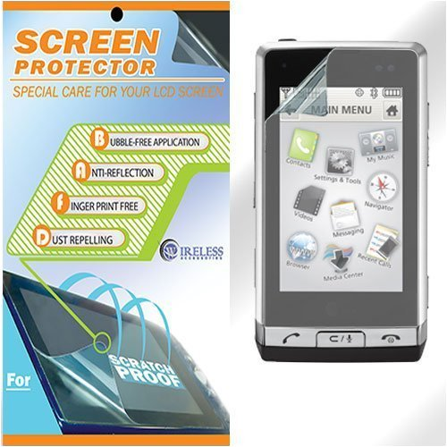 (Screen Protector Scratch Resistant LCD Clear Film for LG Dare VX9700)
