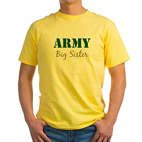 CafePress Army Big Sister Ash Grey T-Shirt - 100% Cotton (Sister Ash Grey T-shirt)
