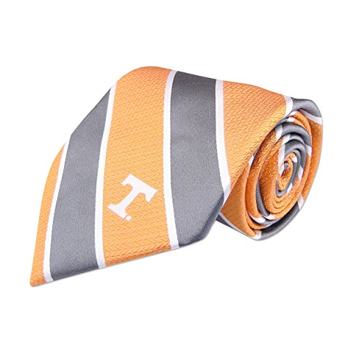 Tennessee Volunteers Ncaa Stripes - NCAA Tennessee Volunteers Mens Woven Silk Repp Stripe Collegiate Logo Tie 1, Orange, One Size