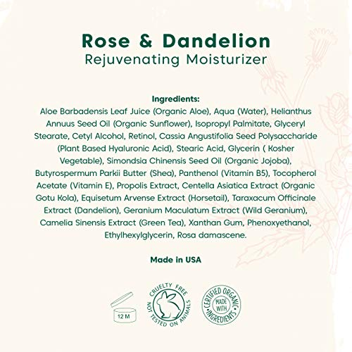 51CLtJx6EgL - Natural Retinol Face Moisturizer w/Hyaluronic Acid, Vitamin E and Green Tea| Anti Aging Cream Reduces Appearance of Wrinkles, Fine Lines, Acne Scars & Uneven Skin Tone