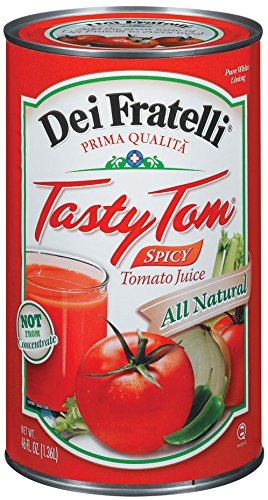 Dei Fratelli - Tasty Tom Spicy Tomato Juice - 46oz - 6 pack (Dei Fratelli Tomato Juice compare prices)