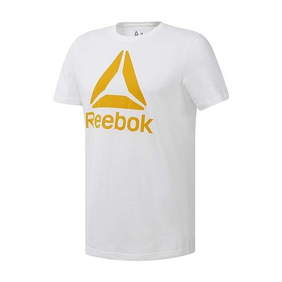 Reebok Qqr-Stacked Camiseta, Hombre: Amazon.es: Ropa y accesorios