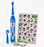 UJS 8600 Kids Sonic Electric Musical Rechargeable Toothbrush with Additional Replacement Heads (Blue) (Blue)