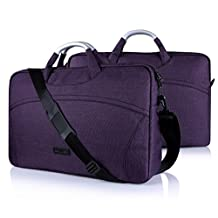 Samsung Galaxy View 18.4 Case, FYY® [Super Functional Series] Premium Waterproof Canvas Sleeve Bag with Practical Pockets for Samsung Galaxy View 18.4 Purple