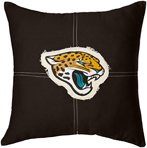 The Northwest Company Officially Licensed NFL Jacksonville Jaguars Letterman Pillow, 18