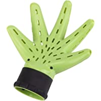 Baosity Hair Dryer Diffuser Attachment, Hand Shape Hair Blower Cover for Hairdressing Curly Hair Styling, Green