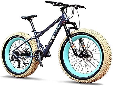 LEYOUDIAN 27 Velocidad, Bicicletas De Montaña Profesionales 26 Pulgadas Adulto Fat Tire Hardtail Bicicleta De Montaña, Marco De Aluminio Suspensión Delantera De La Bicicleta Todo Terreno: Amazon.es: Deportes y aire libre