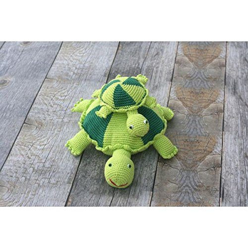 Organic Turtle Toy - Crocheted Baby Toy - Large by our green house