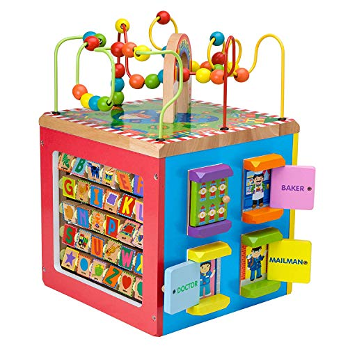 Alex Jr. Jungle Fun Activity Cart, My Busy Town Wooden Activity Cube and Count N Spin Abacus Robot, Playset, Alphabet, Matching, Sensory, Math, Counting, Numbers, Colors, Early Learning, Educational by ALEX Jr. Toys (Image #4)