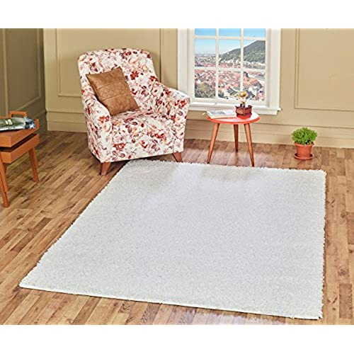 white bedroom rug. A2Z Rug Cozy Shaggy Collection 4x6 Feet Solid Area  Snow White All Bedroom Rugs Amazon com