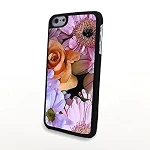 Generic PC Phone Cases Colorful Beautiful Charming Flowers Matte Pattern fit for Cute Fresh iPhone 5C Case
