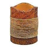 Heart of America Jute Ribbon Timer Pillar - Burnt Mustard 4''