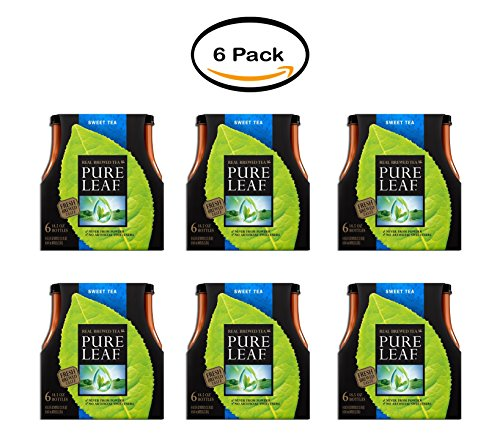 PACK OF 6 - Lipton Pure Leaf Real Brewed Tea, Sweet Tea, 18.5 Fl Oz, 6 Count by Pure Leaf