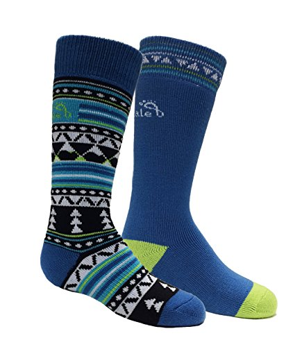 Bridgedale Kid's Merino ski Socks (2 Pack), Black/Blue, Small ()