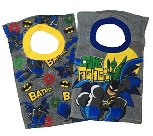DC Comic Super Friends Batman Toddler Baby Boys 2 Pack Bibs