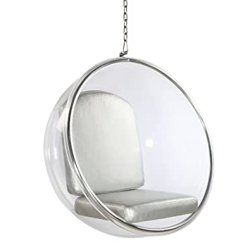Merveilleux Designer Modern Eero Aarnio Style Hanging Sexy Bubble Ball Chair With  Silver Cushion Brand New