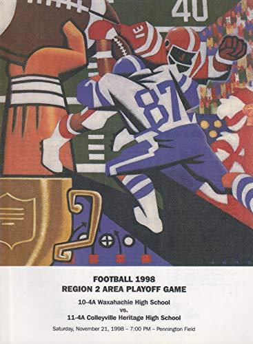 1998 Football Region 2 Area High School Playoff Game - Waxahachie vs Colleyville Heritage - November 21, 1998