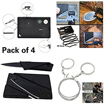 Credit Card Tool Survival Kit with 14-in-1 Credit Card Multitool,10-in-1 Multitool Card , Folding Card Knife (Upgrade and Sturdy ),Pocket Saw,For Fishing Camping Hiking Hunting Emergency Kit