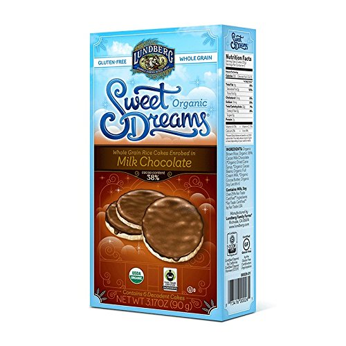 Sweet Dreams Organic Milk Chocolate Enrobed Rice Cakes 3.17 oz (Pack of 3)