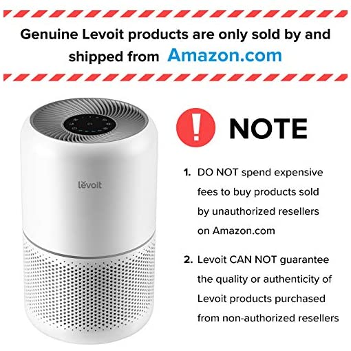 51CLvdka9HL. SS510  - LEVOIT Air Purifier for Home Allergies and Pets Hair Smokers in Bedroom, H13 True HEPA Filter, 24db Filtration System…