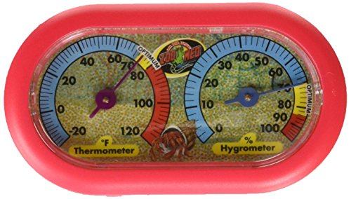 (Zoo Med Hermit Crab Thermometer and Humidity Gauge, Colors May Vary)